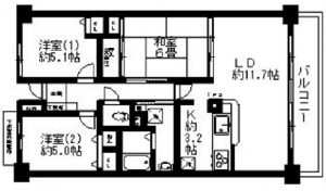 江坂賃貸3LDK,江坂賃貸,御堂筋線3LDK賃貸